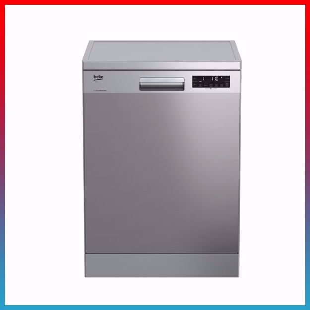 Picture of Beko 11L Free Standing Dishwasher DFN28J21X (14 place settings, Full-size)