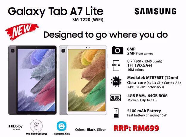 Picture of SAMSUNG GALAXY TAB A7 LITE [ 64+4GB RAM ] MALAYSIA SET