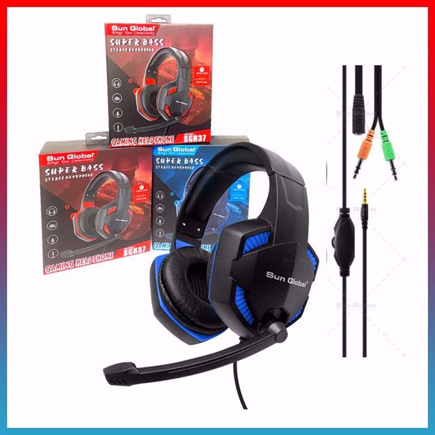 Picture of SUN GLOBAL Gaming Headphone SUPER BASS Headset For Gamer Model SGH37